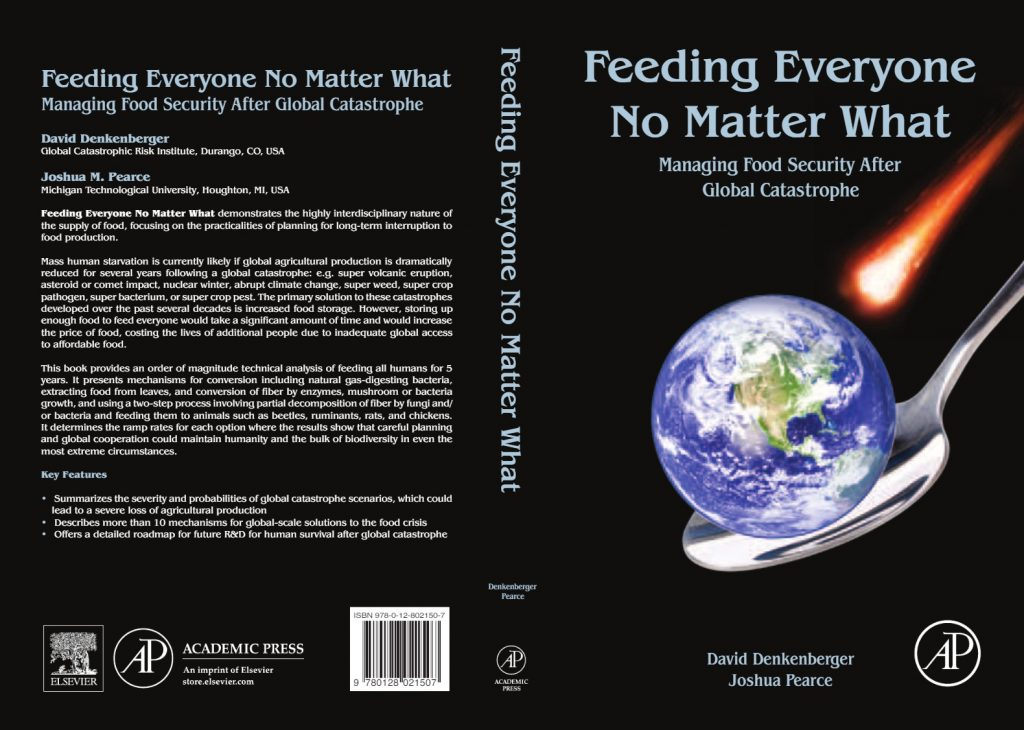 New Book Offers Food Source Options For Catastrophic Scenarios Front Back Book Cover